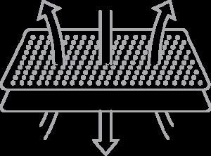 Icon illustrating breathability of bamboo bedding fabric