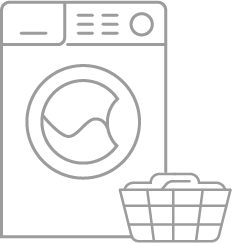 Icon illustrating that bamboo bedding fabric are easy to wash