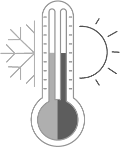 Perfect sleeping temperature icon