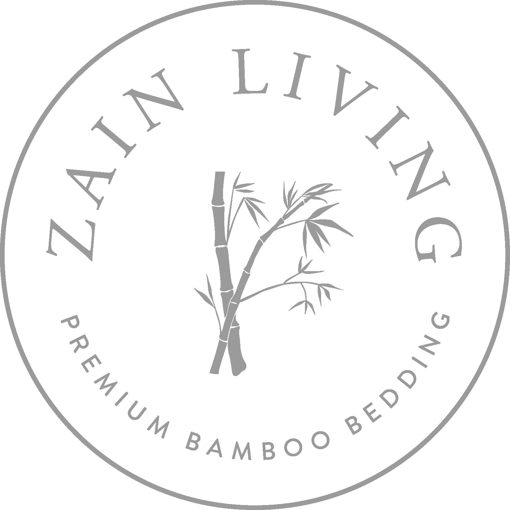 Zain Living premium bamboo bedding stamp logo